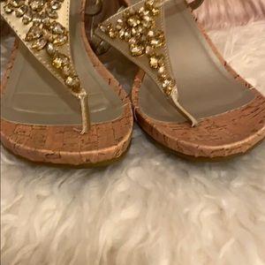 Madeline Stuart Shoes - 💛Gold Wedge Sandals💛